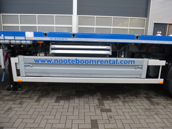 3 AXLE FLATBED TRAILER // 3 AXLES HYDRAULIC STEERING // EXTENDABLE TILL 36 M // PAYLOAD 36 T TILL 36 M //  TWISTLOCKS // §70 //PAYLOAD 36 T