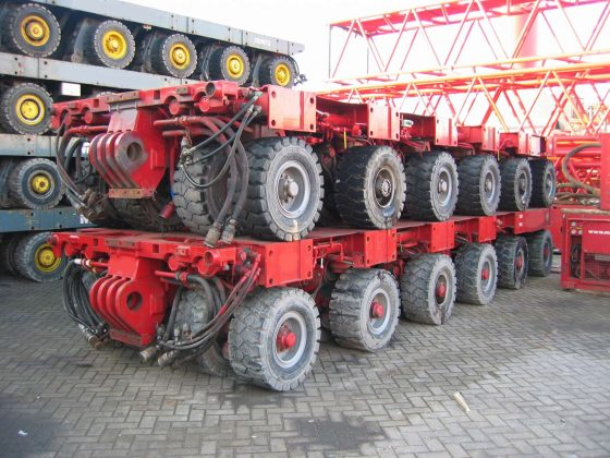 SPMT aslijnen, laadvermogen van 200 - 1.500 ton