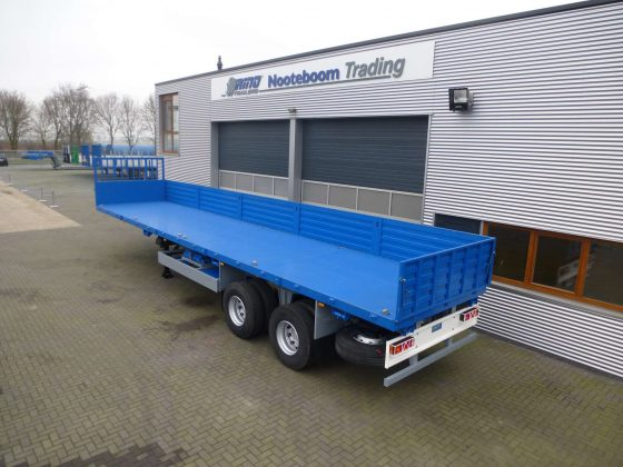 50 tons 2 axle bogie suspension flatbed trailer for severe road conditions