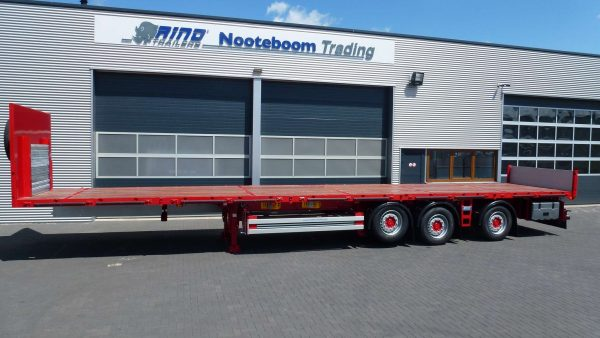 3 AXLE FLATBED TRAILER //3rd AXLE CABLE STEERED // PAYLOAD 37 TONNES