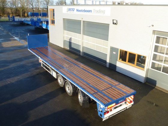 3 AXLE LATBED TRAILER // LAST AXLE CABLE STEERING