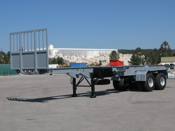 2 axle container chassis for awkward road condition