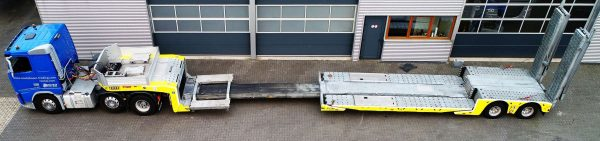 2-AXLE LOWLOADER // HYDRAULIC STEERING // HYDRAULIC RAMPS 6,6 MTR // EXTENDIBLE TILL 12,2 MTR //PAYLOAD 19,1 TON // TO USE FOR VEHICLE RECOVERY