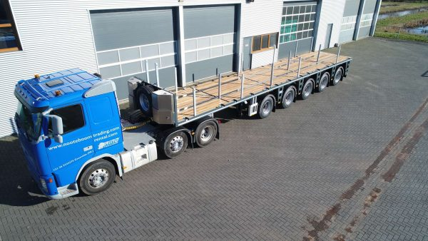 BALLAST TRAILER // 5 AXLE // 4 AXLES STEERED // 63 TON PAYLOAD