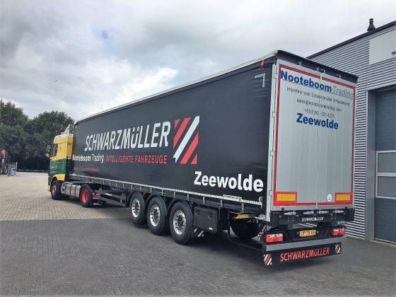 DEMO: 3-axle ultralight sliding tarpaulin platform semitrailer
