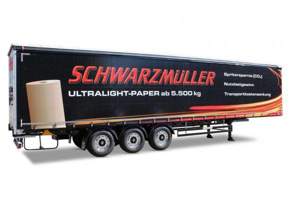3-axle ultralight sliding tarpaulin platform semitrailer - paper rolls