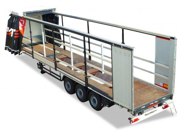 3-axle ultralight sliding tarpaulin platform semitrailer - coil