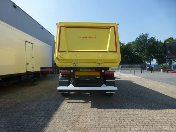 3- Axle steel chassis aluminum rectangular tipper semi-trailer