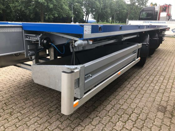 FOR RENT: 3 AXLE FLATBED TRAILER / 3 AXLES HYDRAULIC STEERING / EXTENDABLE TILL 28,8 M / PAYLOAD 35 T / kingpin height 1160 mm