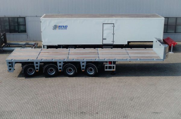 Ballast trailer 4 axle steered 55 ton payload
