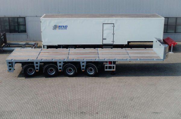 Ballast trailer 4 assen gestuurd 55 ton laadvermogen