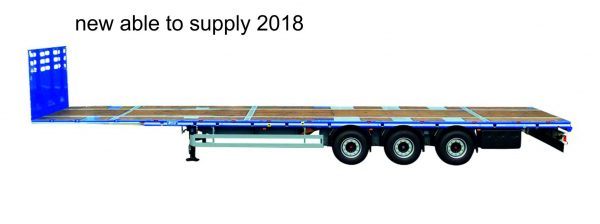 3-axle mega trailer with 2 driving positions // loading platform height 1050mm // with beaver // load capacity 38 tons //