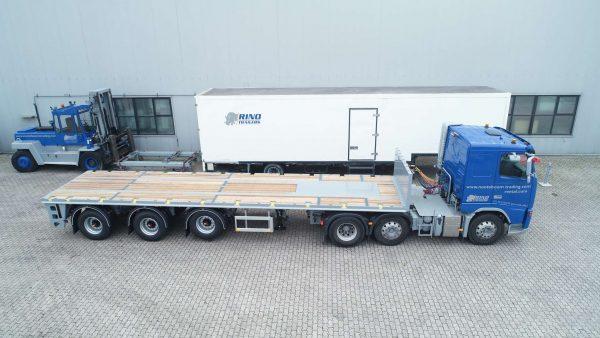 Ballast trailer 3 assen 2 gestuurd 39 ton laadvermogen