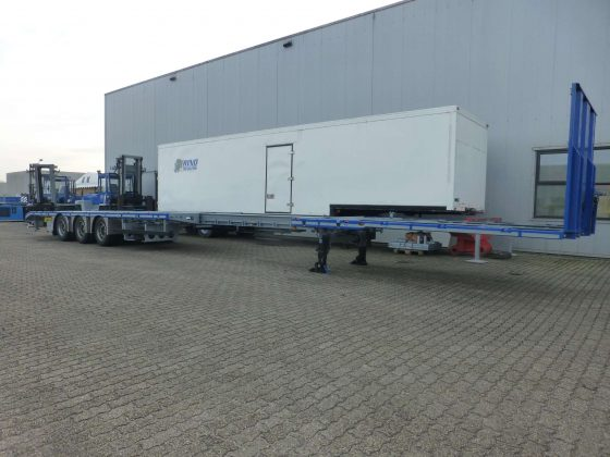 RINO® 3AXLE MEGA MACHINE TRAILER // 2 COUPLING HEIGHTS 960 & 1130 MM // EXTENDABLE // SUPERLIGHT // PAYLOAD 36,6 TON