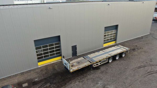 EXTENDABLE FLATBED TRAILER // 3 AXLES HYDRAULIC STEERING // EXTENDABLE TILL 36 M // PAYLOAD 34 T