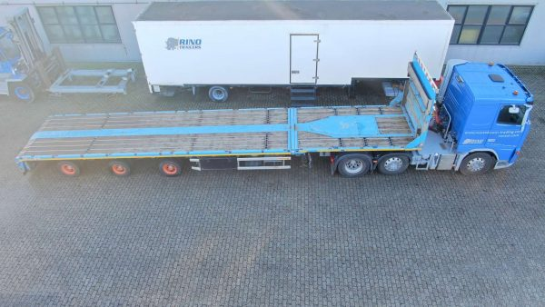 mega trailer 3 axle width hydraulic steering// ext 8200mm // 38 ton payload