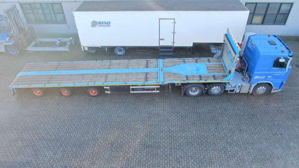 3 assige mega trailer// hydraulische gestuurd // uitschuifbaar 8.2 mtr
