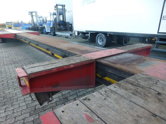 6 AXLE LOWBED // HYDRAULISCHE GOOSENECK // EXTENDABLE TILL 20.4 MTR // PAYLOAD 63 TON
