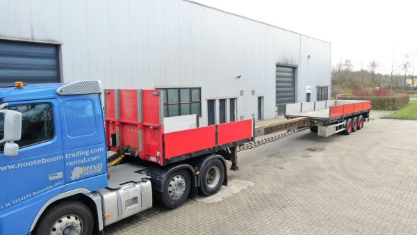 3 AXLE FLATBED // EXTENDABLE TILL 20,5 MTR // PAYLOAD 38 TON