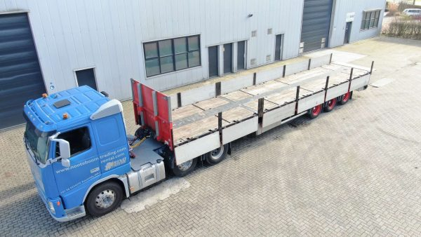 3 axle flat trailer // extendable till 20.5 mtr //payload. 38ton