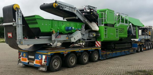 Low-loader width 4 pendel axle/ and interdolly/ incl. 3 sets of extensions beam /  80 ton payload