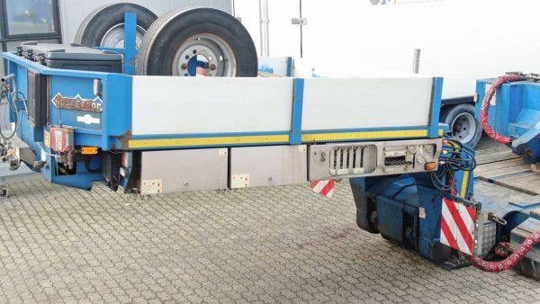 Dieplader 2 bed 4 met ketelvloer en 3 sets verlengdelen.// laadvermogen 85 ton