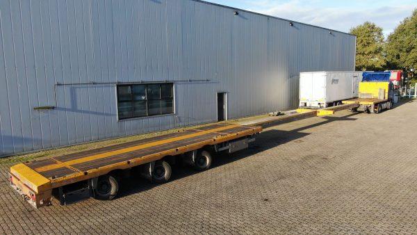 3 Assige mega trailer, dubbel uitschuifbaar 29 meter, laadvermogen 34,6 ton