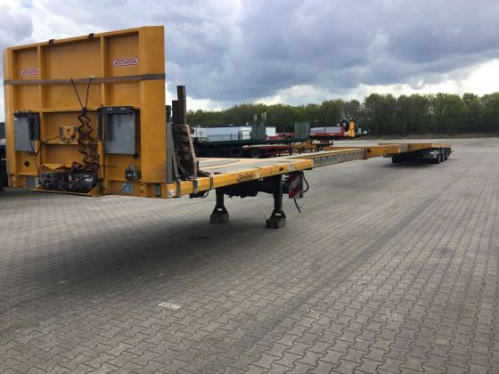 3 Axle Mega Trailer // Double Extendable till 29 Meters // Payload 34,6 Ton