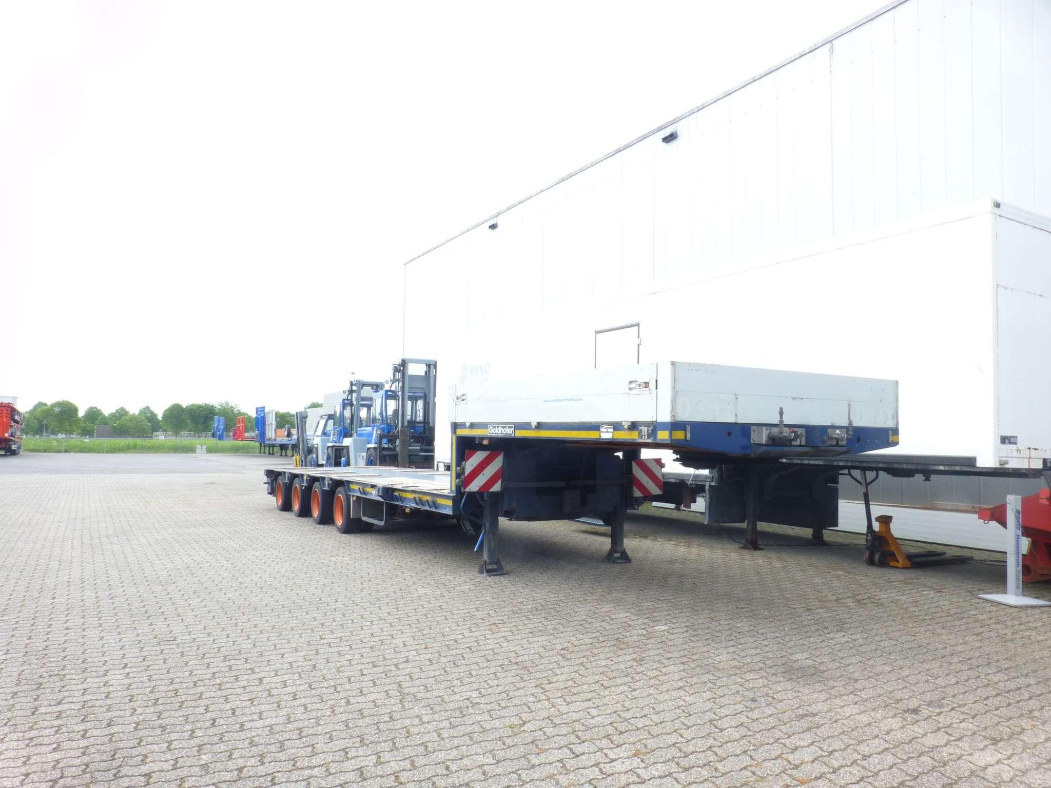 4 Assige semi dieplader | hydraulisch gestuurd | uitschuifbaar tot 14,6 m | laadvermogen 34,6 t