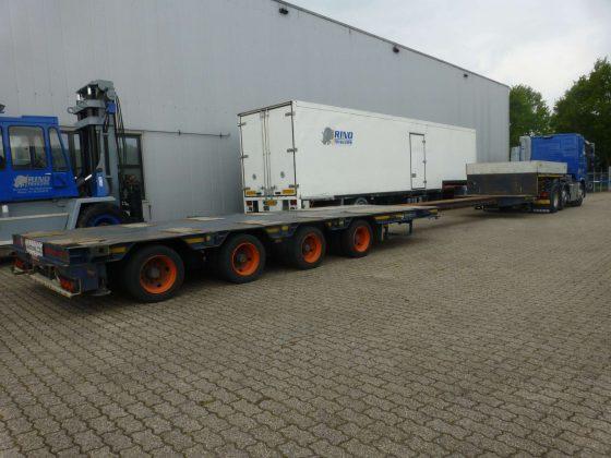 4 Axle Lowbed // Hydraulische Lenkung // Ausschiebbare bis 14,6 Meter // Nutzlast 34,5 Ton