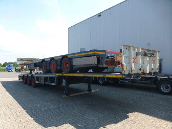 3 AXLE MEGA TRAILER // EXTENDABLE TILL 21 METER // PAYLOAD 30 TON