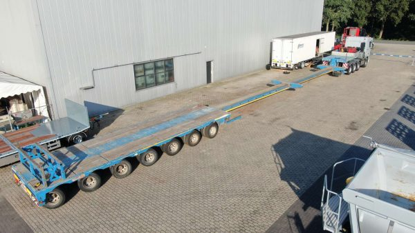 7 AXLE LOWBED  // HYDRAULIC GOOSENECK // DOUBLE EXTENDABLE TILL 29 MTR // PAYLOAD 116 TON