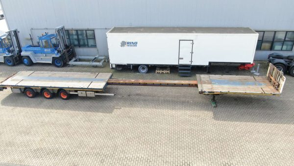3 AXLE MEGA TRAILER // EXTENDABLE TILL 20 METER // PAYLOAD 37,6 TON