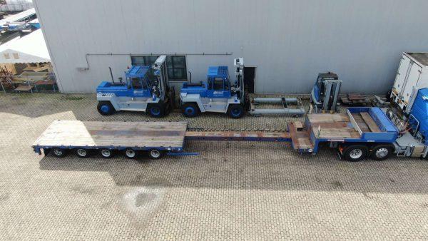 5 assige Semi Dieplader met een laadvloerlengte van 15,6 meter en 65,8 ton laadvermogen