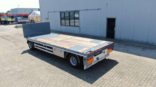 2 assige aanhanger // Laadvermogen 18 ton