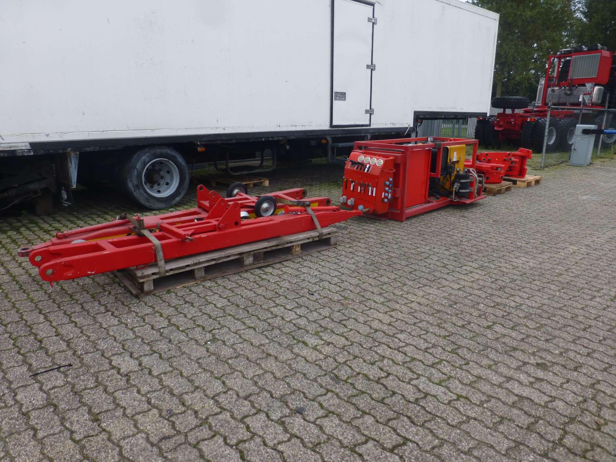 Trekstang 3 meter lang, aanhangwagengewicht 500 ton, met opklapbare steunwiel