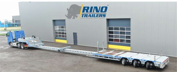 SEMI LOWBED (MANOOVR) // 3 PENDLE AXLE // 44 TON PAYLOAD // LOADFLOORHEIGHT 780 MM // DOUBLE EXTENDABLE TILL 22 MTR// TOTAL STROKE 500 MM