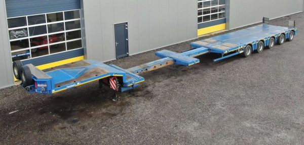 5 Axle semi lowbed | extendable till 18 m | payload 65,5 ton
