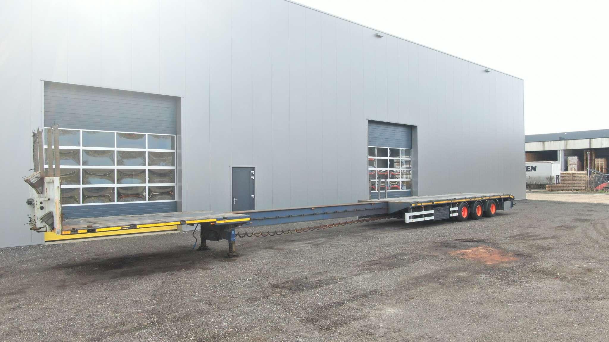 3 Assige mega trailer | uitschuifbaar tot 20,5 m | laadvermogen 37,1 ton